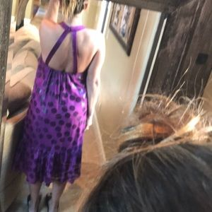 Tibi, Purple Polkadot Sundress, Size 4